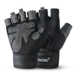 Fitness / gym / training / cycling - gloves - with wrist support strap - non-slip