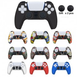 PS5 - silicone controller case - with thumb grips