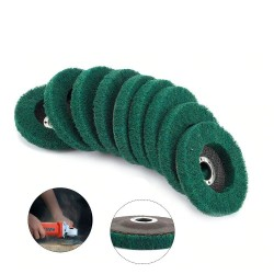 Nylon fiber flap polishing wheel disc - 180 grit - for angle grinder - wood / metal buffing - 115mm