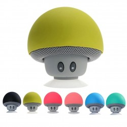 Mini Bluetooth speaker - wireless - with suction cup - mushroom shape