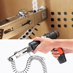 Automatic nail gun - with screw chain - adapter for electric drill - attachment