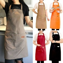 Kitchen / work apron - bib - with 2 pockets - waterproof