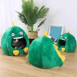 Cats / dogs sleeping bed - pet kennel - dinosaur shaped