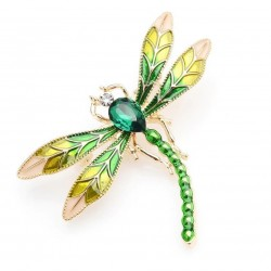Crystal dragonfly - brooch