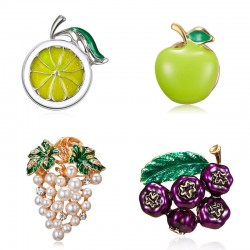Crystal brooches - blueberry - grapes