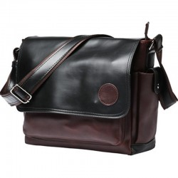 POLO Vintage crossbody / shoulder bag - large capacity - leather