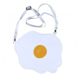 Egg shaped crossbody / shoulder small bag - white