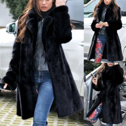 Luxury long coat - fluffy fur