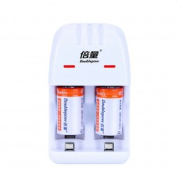 2 pieces Cr2 200mAh rechargeable battery - with Cr2/CR123A universal smart charger