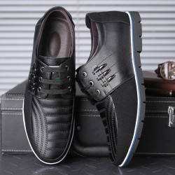 Casual leather shoes -...