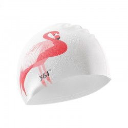 Swimming cap with flamingo...