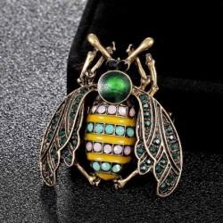 Crystal bee - elegant brooch