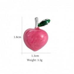 Pink apple brooch - pin