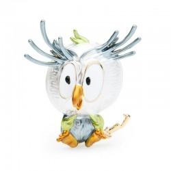 Enamel owl - brooch
