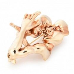 Kissing couple lovers - alloy brooch