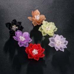 Flower with crystals - elegant brooch