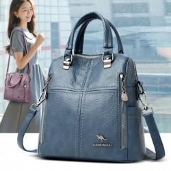 Multifunctional shoulder bag - leather backpack