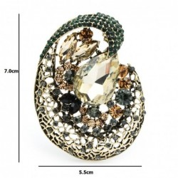Big crystal flower - geometric brooch