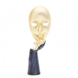 Personality style - face with hand - brooch