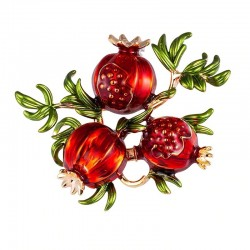 Twig with pomegranates - brooch