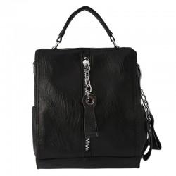 Leather backpack - shoulder bag