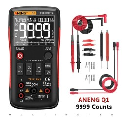 Q1 - digital multimeter - 9999 counts - analog tester - true RMS / NCV - with LCD display