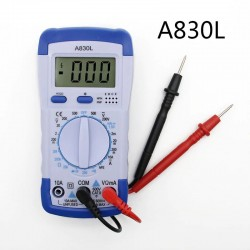 A830L - digital multimeter - multifunction DC / AC / Voltage tester - LCD