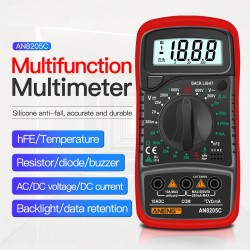 AN8205C - digital multimeter - AC / DC / Ammeter / Volt / Ohm tester - with LCD backlight