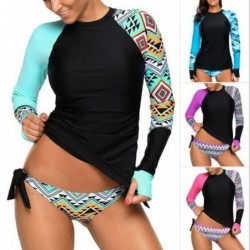 Two piece swimsuit - with front zipper - long sleeve - surfing / water sports