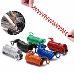 Bicycle / motorcycle anti-theft lock - spring cable wire