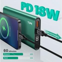 I1006P - portable power bank - charger - dual USB - quick charge 10000mAh - LED