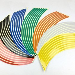 Car wheel reflective strips - stickers - 16 pieces