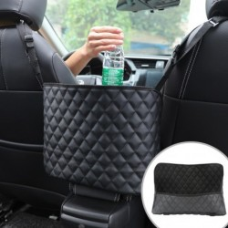 Leather storage bag - back car seat organiser