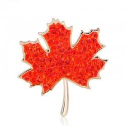 Red maple leaf - crystal...