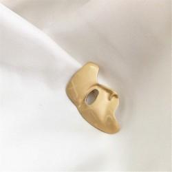Fashionable brooch - geometric abstract - half-face shape