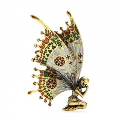 Vintage brooch - fairy with butterfly wings
