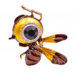 Big-Eye - bee - rhinestone brooch