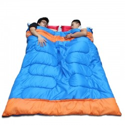 Double sleeping bag - with zipper - warm - waterproof