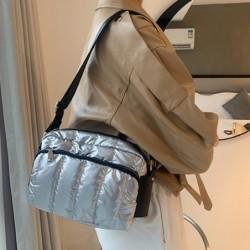 Small shoulder bag - nylon - wide strap