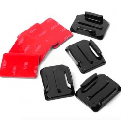 Flat / curved adhesive mount stickers - for GoPro - 8 pieces