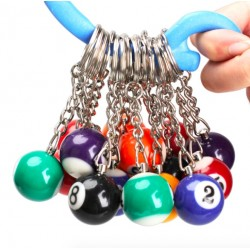 16 PCS Snooker ball set keychains