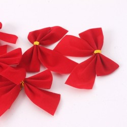 Christmas tree red bowknots 12 pieces