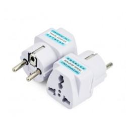 UK US AU to EU Power Plug Converter Adapter