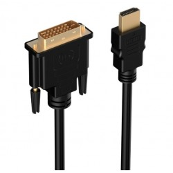 HDMI to DVI 24+1 Pin Adapter Gold Plated Male to Male Cable