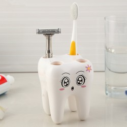 Tooth style toothbrush holder with 4 holes - stand