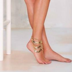 Multilayer tassels chain - gold anklet bracelet