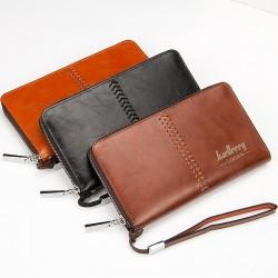 Luxury men's wallet - purse with strap