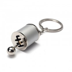 Car gear shift - keychain - keyring