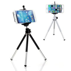 360 rotating - mini stand - tripod mount & smartphone holder