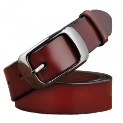 Genuine leather belt with fashionable metal buckle